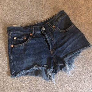 Levi's High Rise 501 Jean Shorts